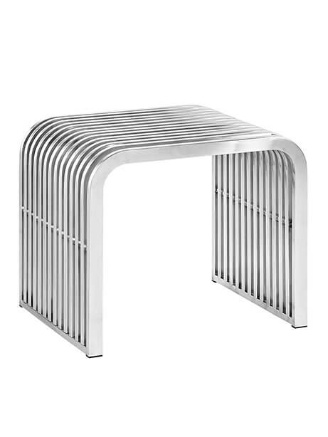Chrome Curve Small Bench