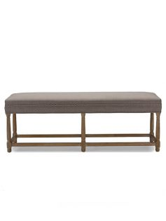 Hester Taupe Fabric Bench 237x315