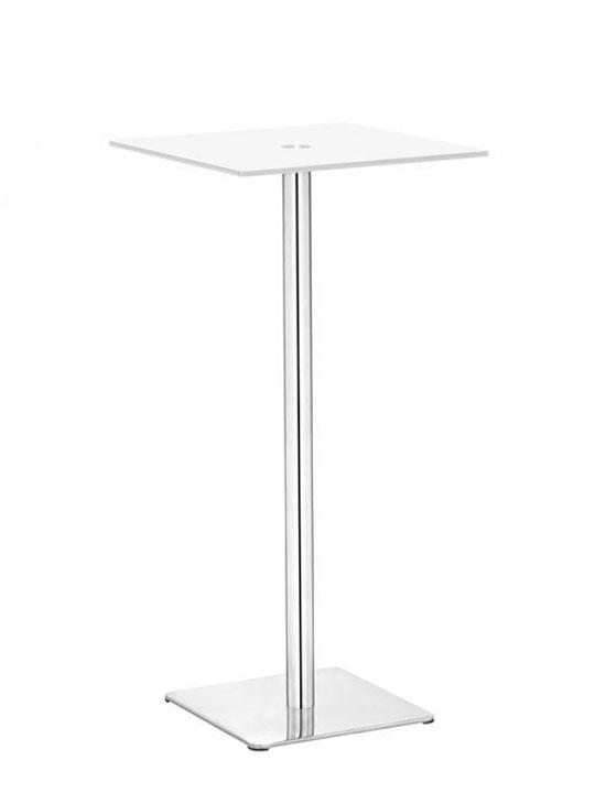 Attirant Square Glass Bar Table
