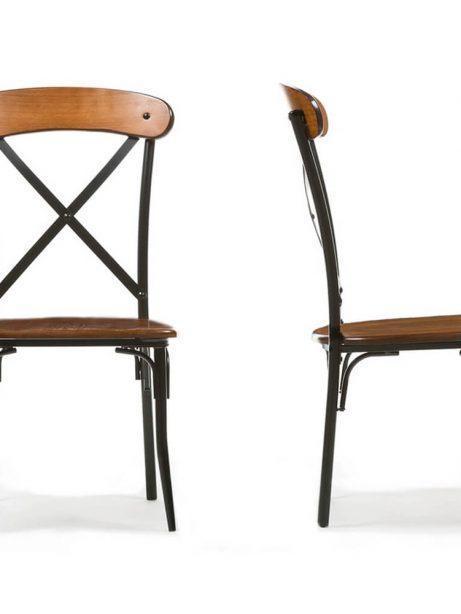 X wood industrial chair set 4 461x614