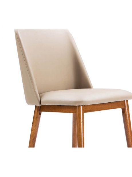 beige leather dining chair 461x614