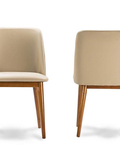 beige leather mid century chair 461x614