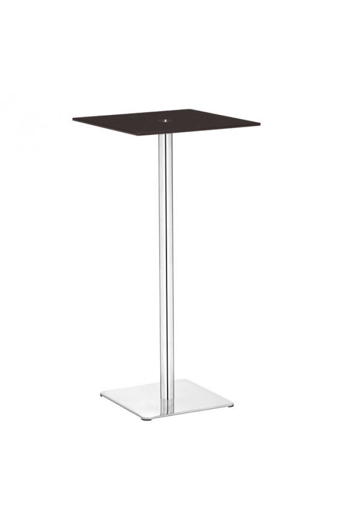 brown square glass bar table