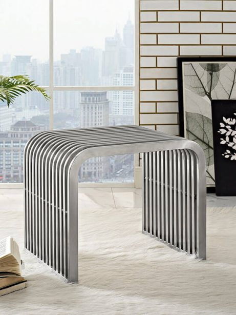 chrome side table bench 461x614