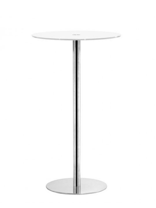 circle glass bar table