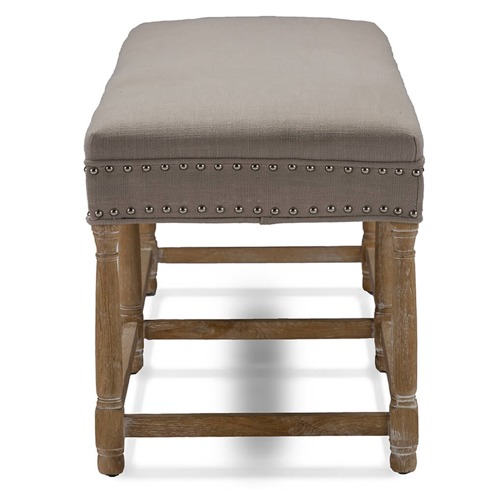 hester taupe fabric bench 3