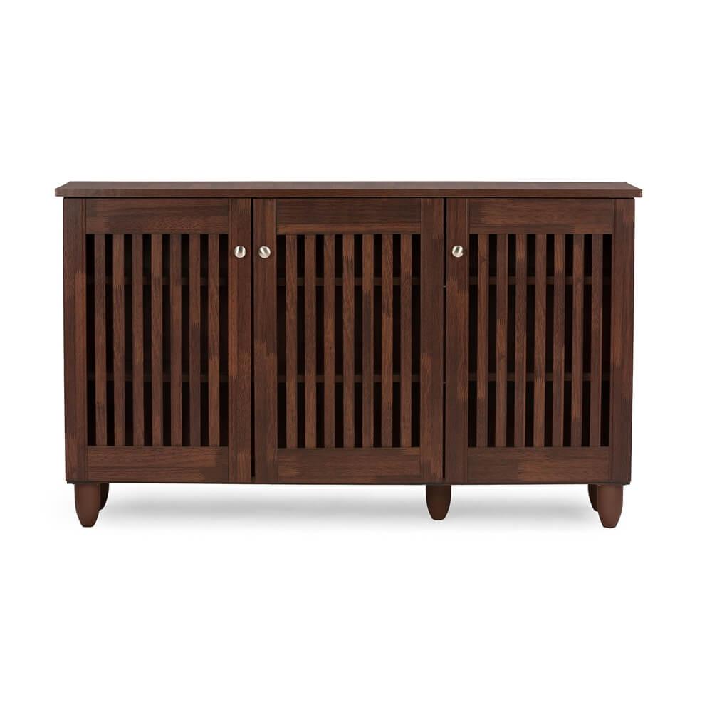 Oak Wood Cribs ~ Hester brown oak wood cabinet modern furniture