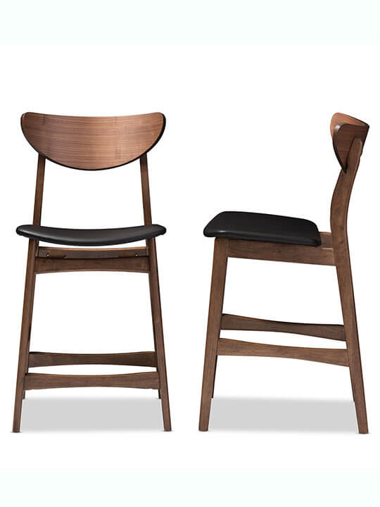 Scandinavia Barstool black leather