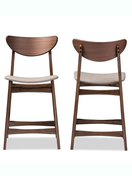 Scandinavia fabric barstool 1