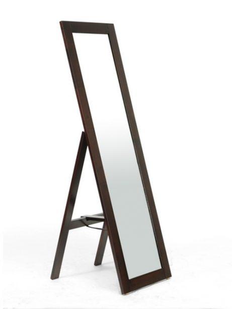 Walnut Wood Full Length Standing Mirror 461x614