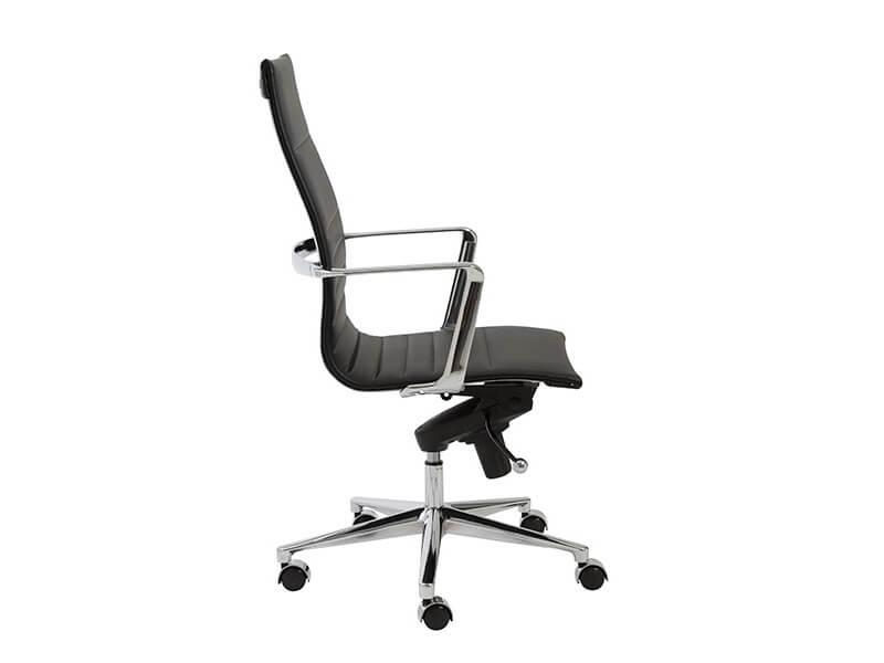 capital high back office chair black 3