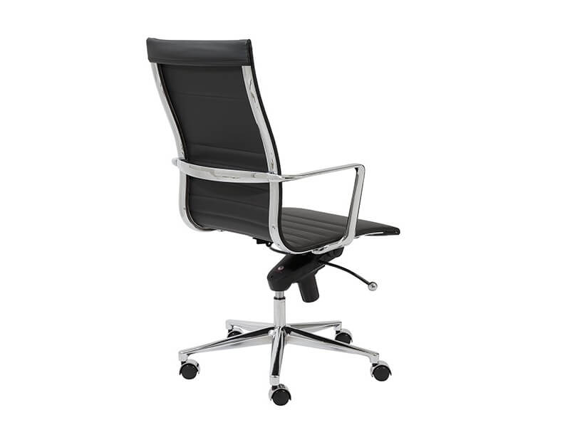 capital high back office chair black 4