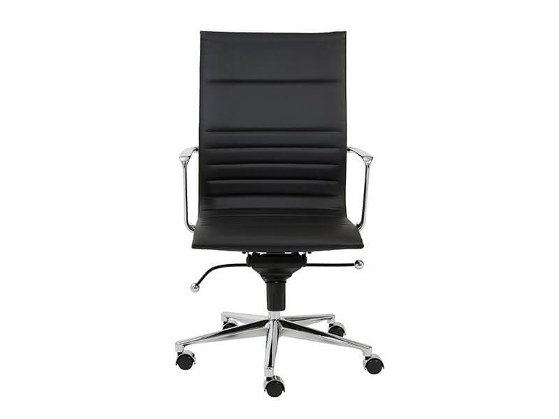 capital high back office chair black