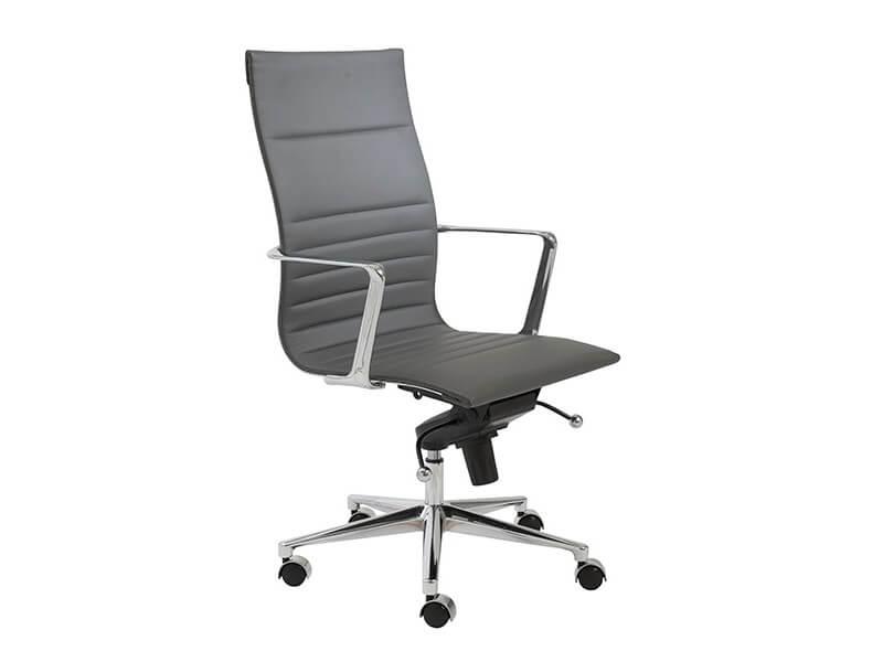 capital high back office chair grey 2