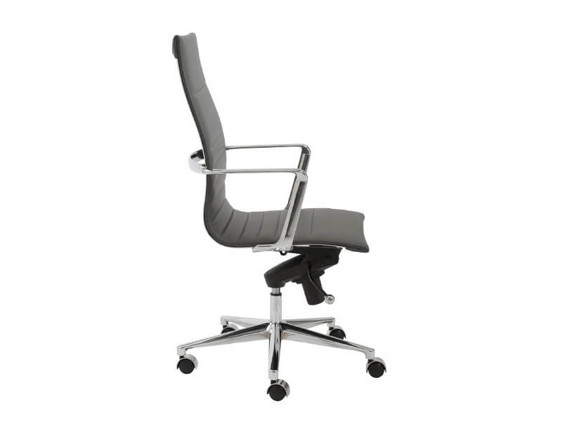 capital high back office chair grey 3