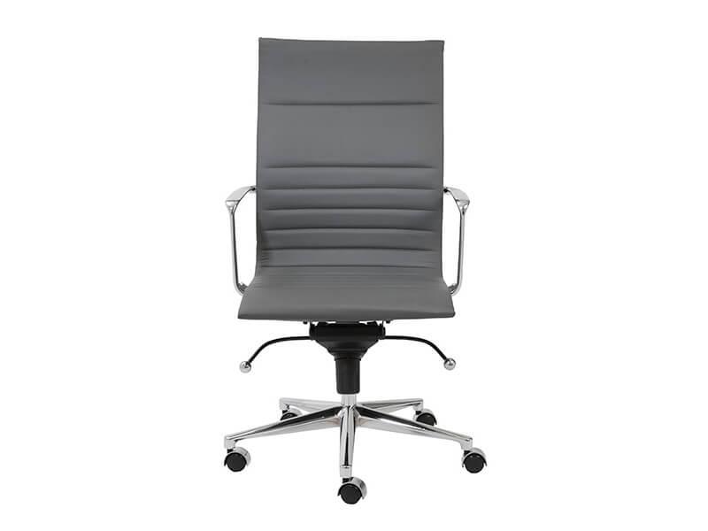 capital high back office chair grey