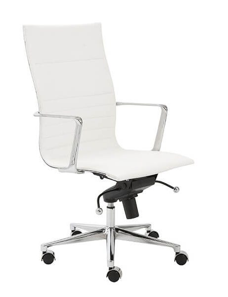 capital high back office chair white 2 461x600