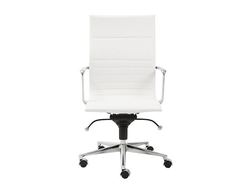 capital high back office chair white