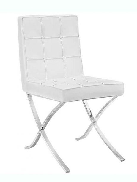 contemporary chrome x chair 461x614