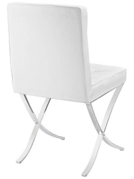 contemporary chrome x chair white leather 3 461x614