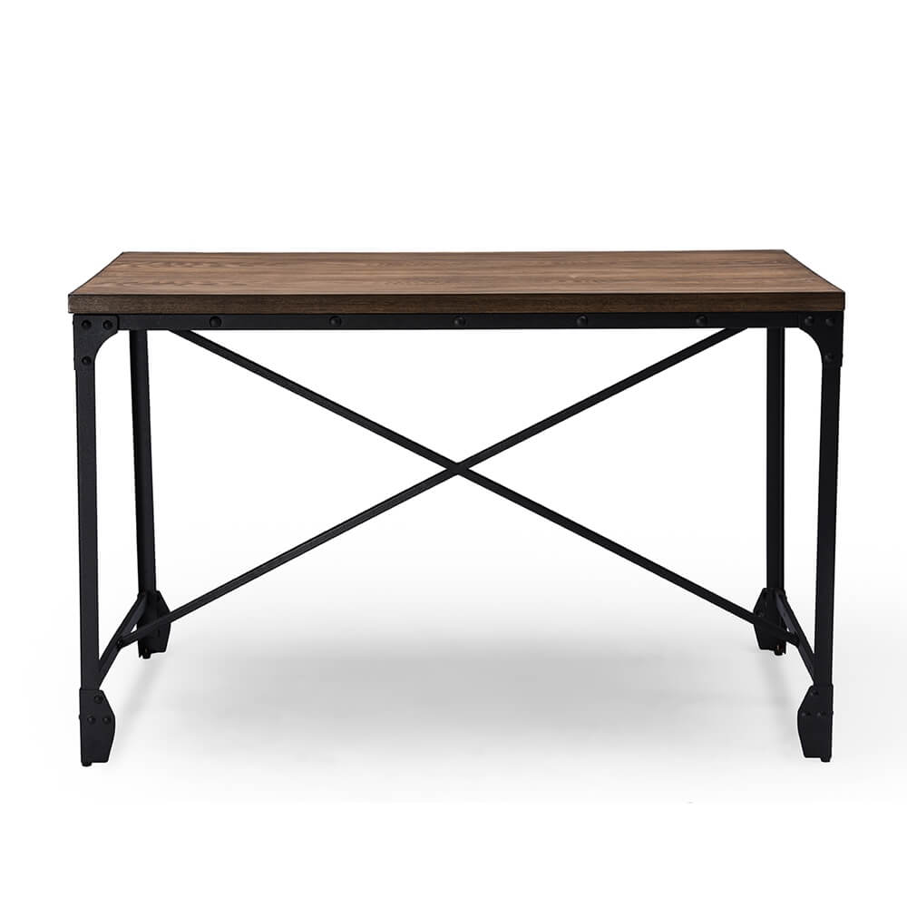 industrial wood desk