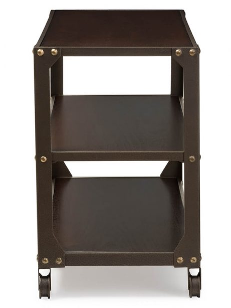 Bronze metal rolling console table 3 461x614