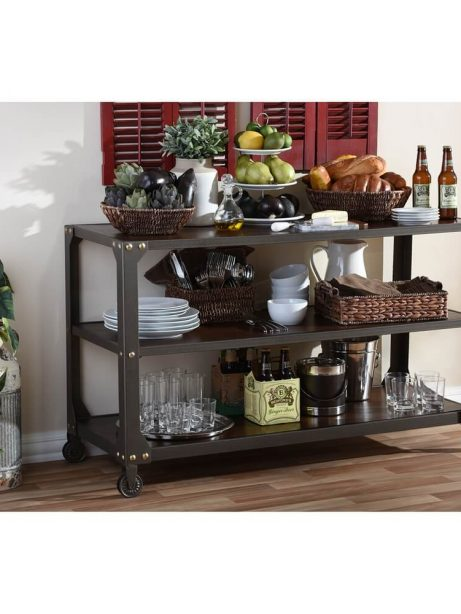 Bronze metal rolling console table 4 461x614