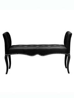 Nailhead tufted leather bench 237x315
