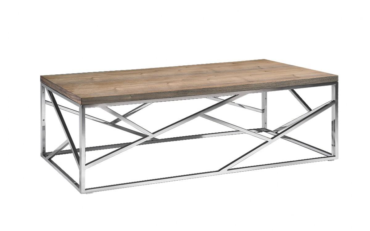 aero chrome wood coffee table 1