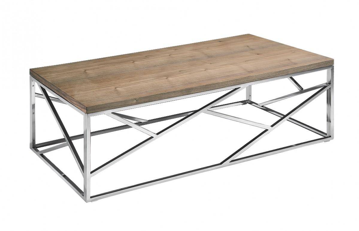 aero chrome wood coffee table 3