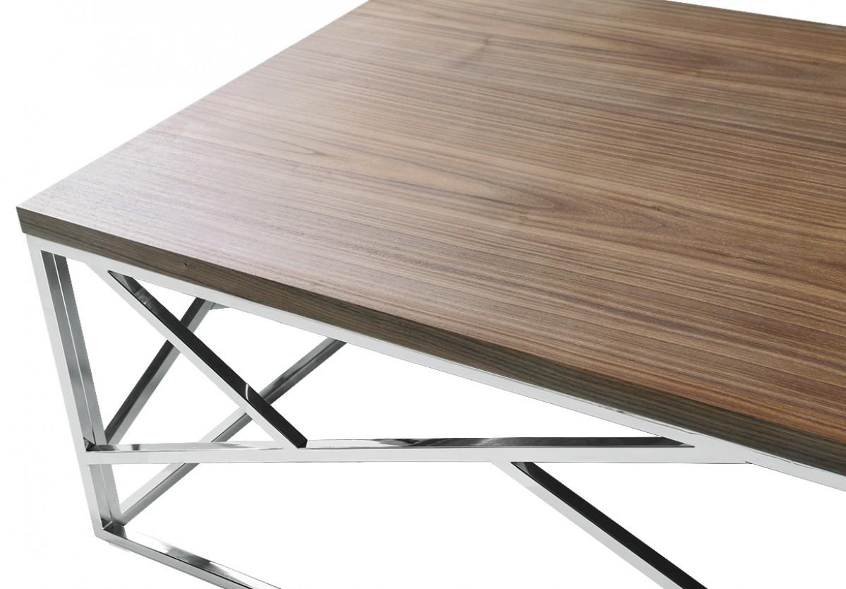 aero chrome wood coffee table 4