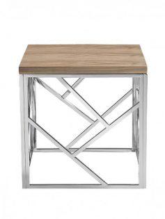 aero chrome wood side table  237x315
