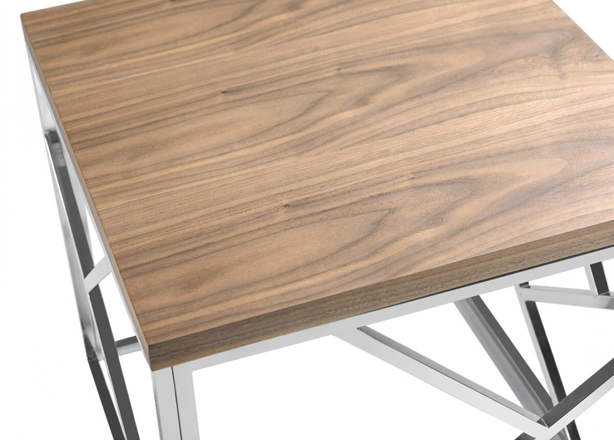 aero chrome wood side table 2