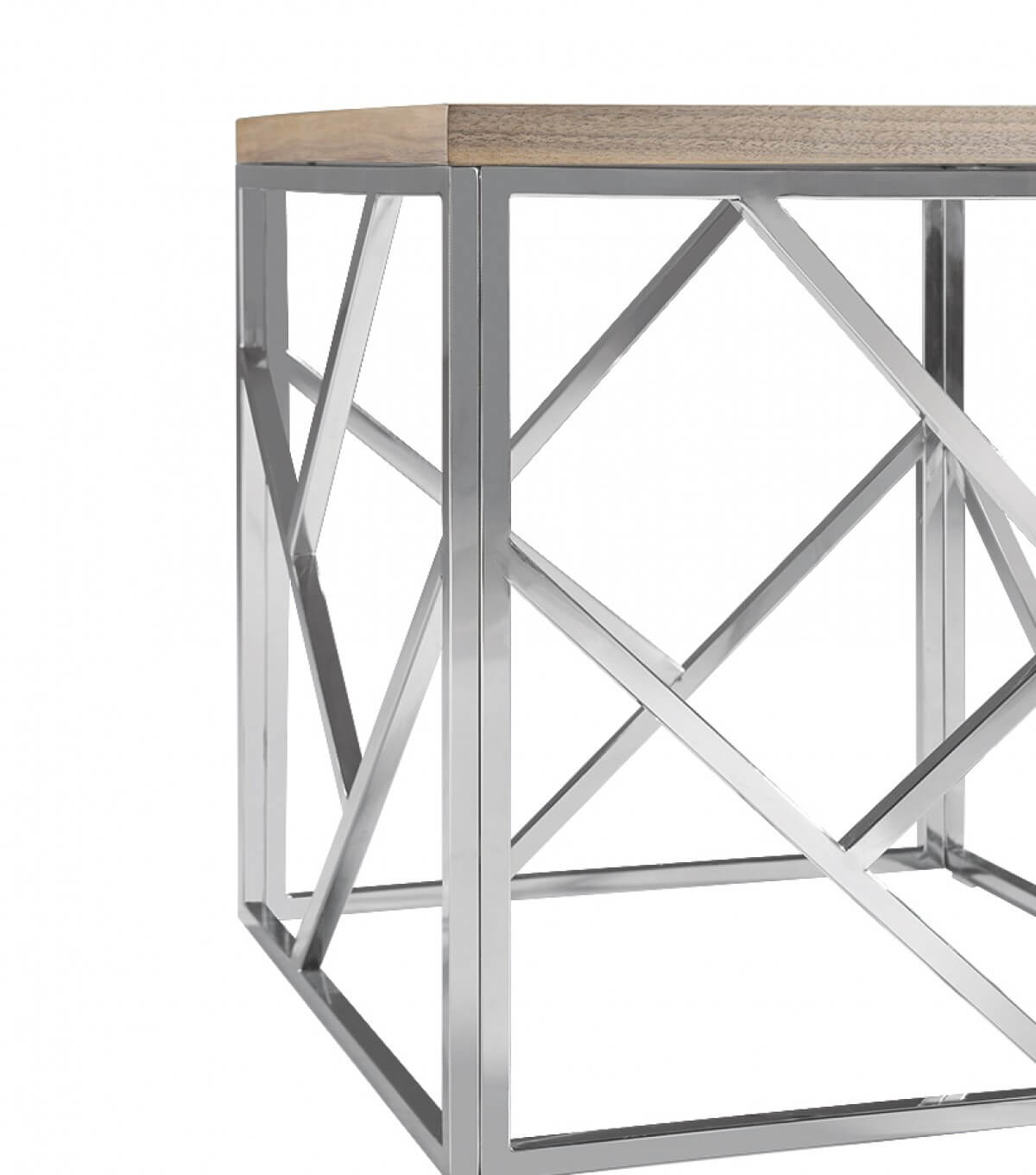 aero chrome wood side table 6