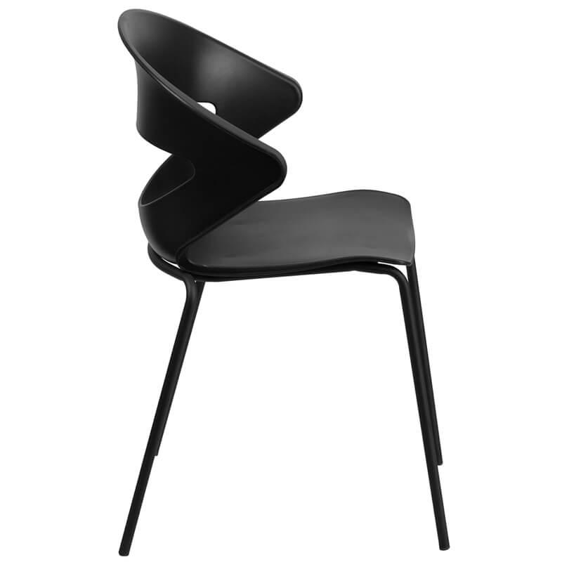 black chair curve chair