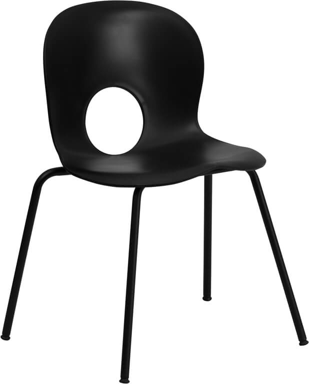black circle cut out chair 2