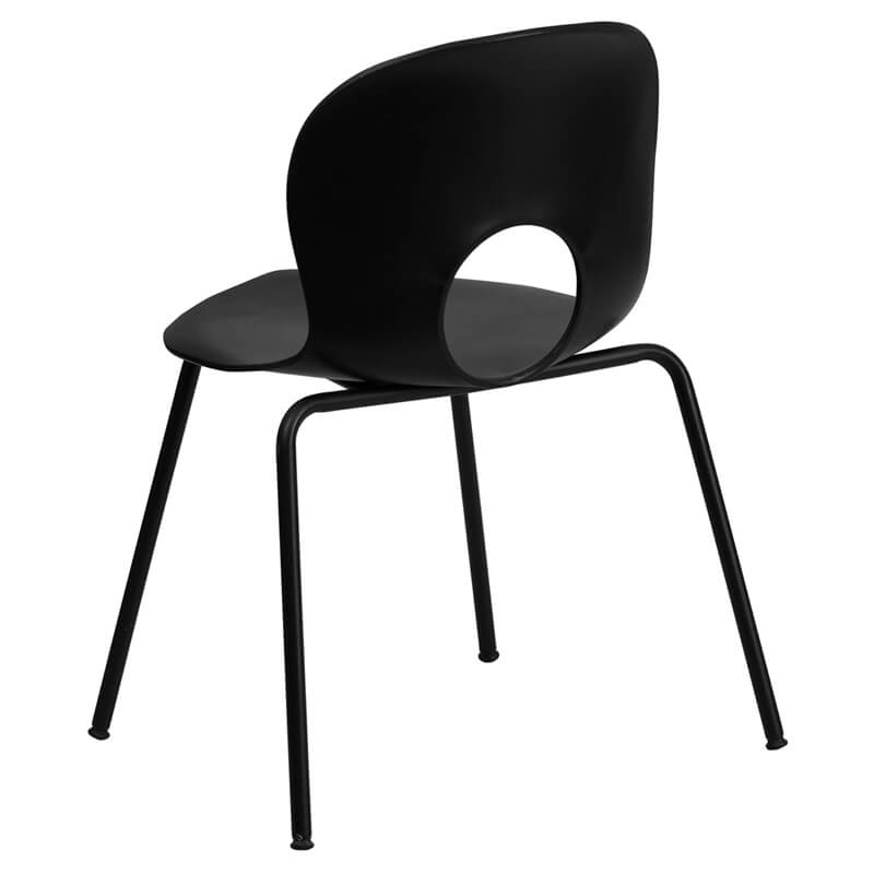 black circle cut out chair