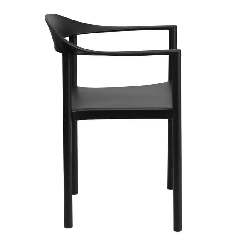 black plastic cafe dining chair