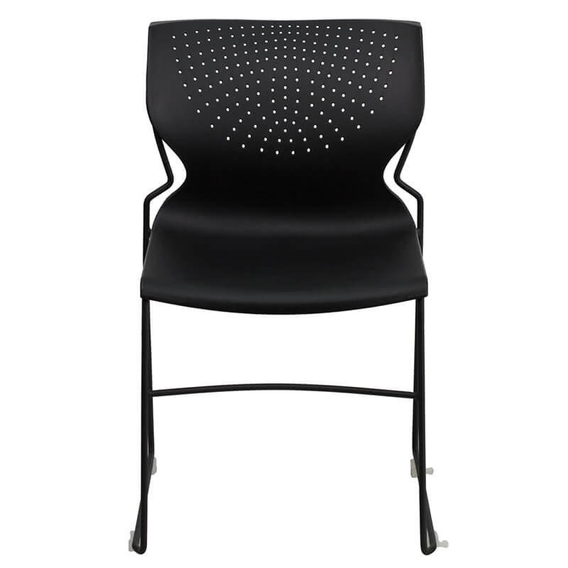 black plastic galaxy chair stackable