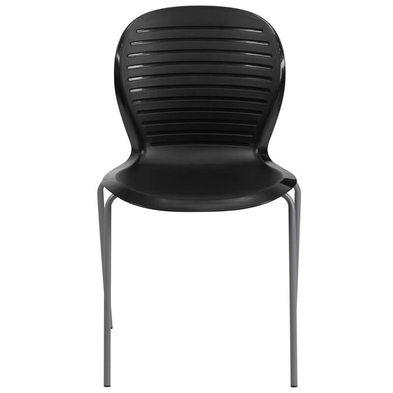 black plastic wave chair 3