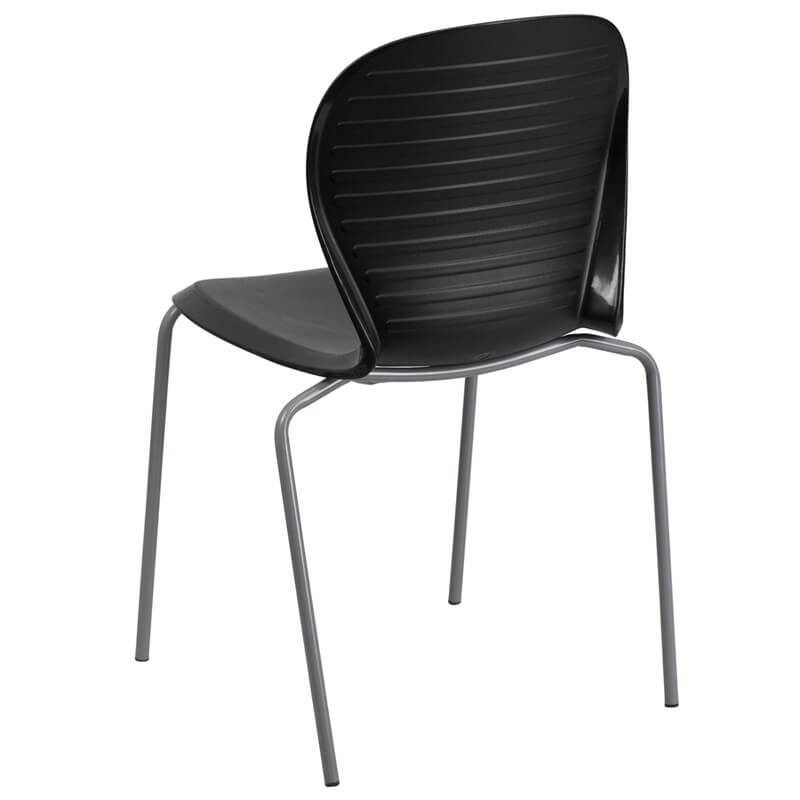 black plastic wave chair 4
