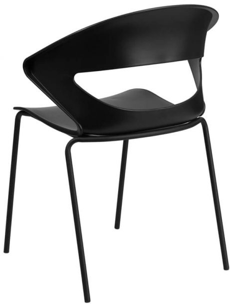 chair curved back black 461x614