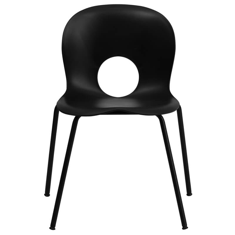 circle chair black