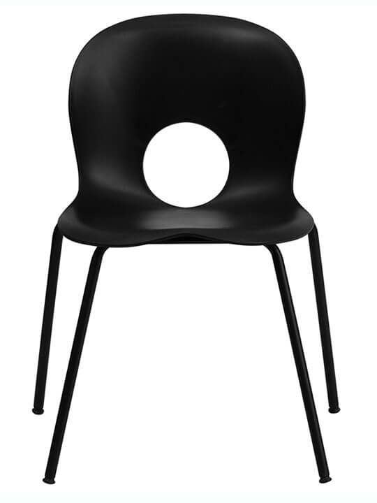 circle cut out chair