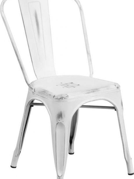distressed white metal chair 461x614