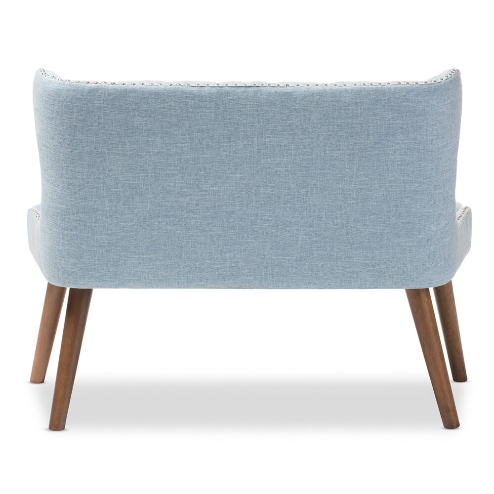 light blue english breakfast loveseat