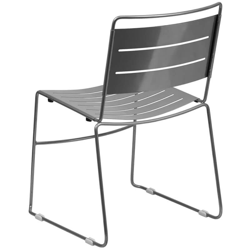 metal line chair silver