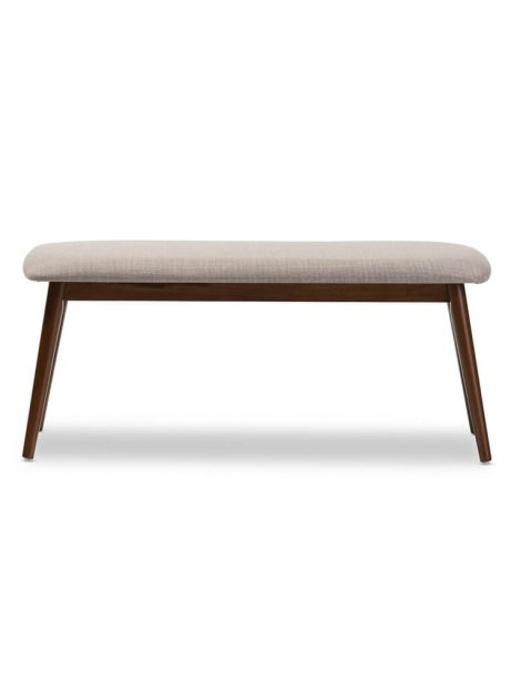 mid century grey fabric bench 461x614