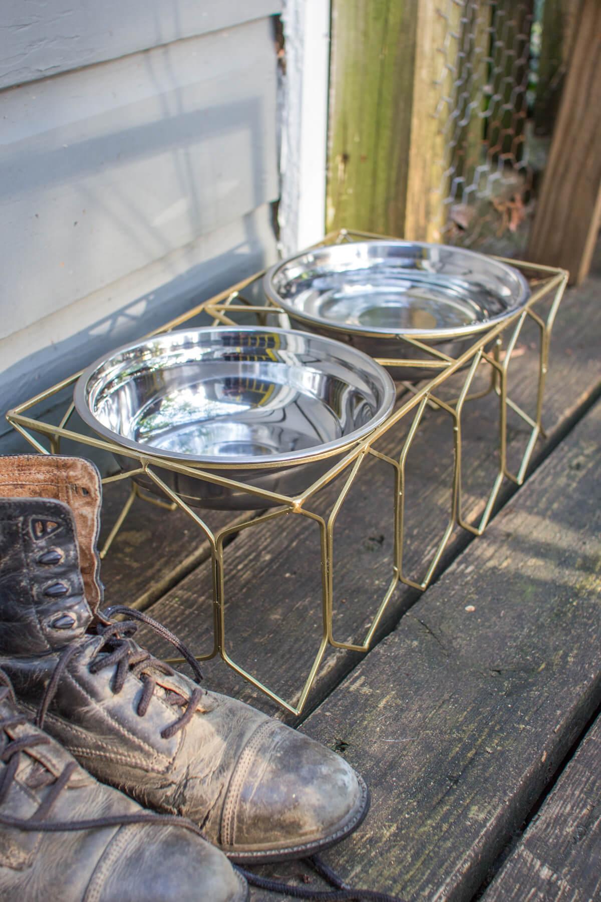 modern dog bowl large