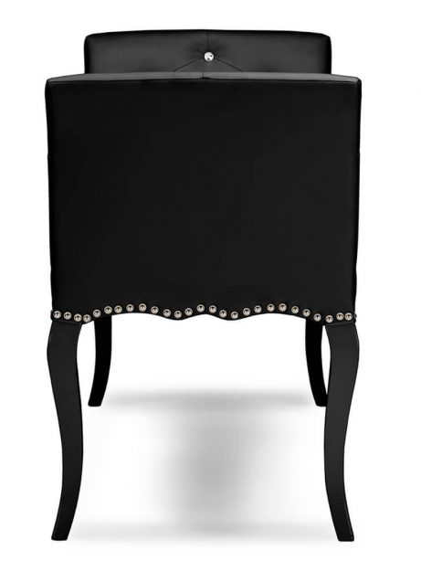 nailhead tufted black leather bench 3 461x614